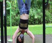 Hot Pee Slut Does Nasty Gymnastics from jeans pant wali hat mo